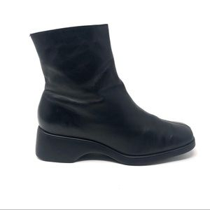 Rockport Womens Square Wedge Leather Boots 7.5